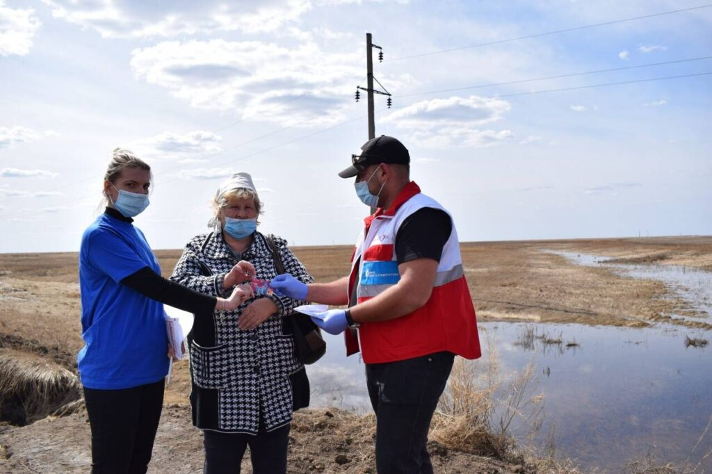 Flood victims received aid cards